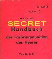 GERMAN CHEMICAL GAS GUN SHELL & FUZE AMMUNITION COLOR MANUAL 1  WW2
