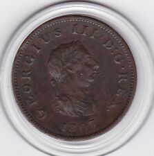 1807   King  George   III    Half  Penny   Copper  Coin