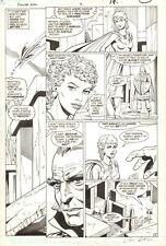 Power Girl #3 p.15 - Power Girl Flying - 1988 Signed art by Rick Hoberg Comic Art