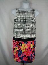 Ann Taylor Loft Floral Plaid Dress Size 10 Sleeveless Drop Waist New