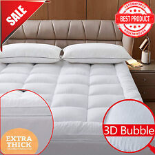 Mattress Topper 2inches Microfiber Soft Featherbed 3Dbubble Twin Full Queen King