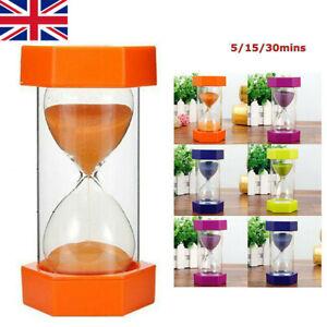 5/15/30mins Sandglass Hourglass Sand Clock Egg Kitchen Timer Kid Toys Game Gift