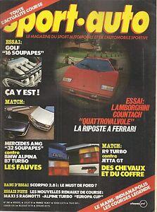 SPORT AUTO 282 1985 24H DU MANS LAMBORGHINI COUNTACH ALPINA B7 TURBO INDY 500