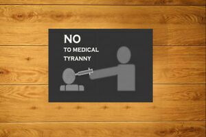 No To Medic@l Tiranny Cruelty Sticker Packs (10-100) Anti Vax Vaccine Conspiracy