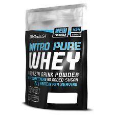 Biotech USA Nitro Pure Whey 454g Strawberry Protein Complex FREE P&P