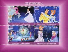 Madagascar 2018 estampillada sin montar o nunca montada Cenicienta 4 V m/s Disney Dibujos Animados sellos