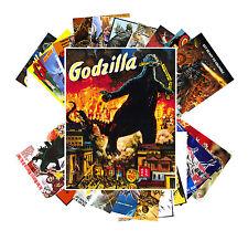 Postcards Pack [24 cards] Godzilla Vintage Horror Kaiji Movie Posters CC1001