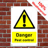 Danger pest control sign or sticker farm Health & safety various sizes COUN0030