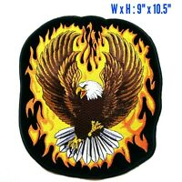 Upwing Flaming Eagle Harley Davidson MC Motorcycle Biker Iron On Jacket Patch