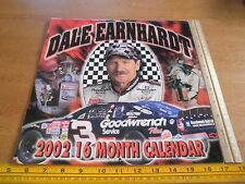 Dale Earnhardt 2002 photo calendar Chevy NASCAR