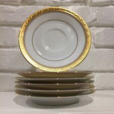 Noritake Crestwood Gold Set of 6 Saucers!! Brand New!!!