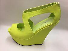 "New Ladies Lime Green Peep Toe Platform Shoes 6"" Heels DRAG/TV/CD/TG UK 8"