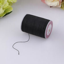 130M Leather Sewing Round Waxed Thread Cord DIY Hand Sewing Stitching Black