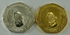 Pair of MOON LANDINGS 50th ANNIVERSARY Commemoratives Silver & 24ct Gold