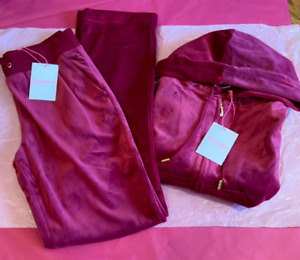Juicy Couture Sport Beet Red Burgundy Full Tracksuit