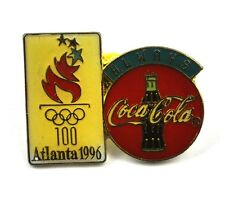COCA-COLA COKE EE.UU. Solapa Pin PIN BADGE Broche - ALWAYS Logo Atlanta'96