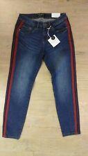 ROCK ANGEL - Damen Jeans mit roter Biese