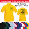 Personalised Childrens Polo Shirt Printed Kids Polo Top T Shirt Photo