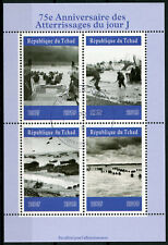 Chad 2019 CTO WWII WW2 D-Day 75th Anniv 4v M/S World War II Military Stamps