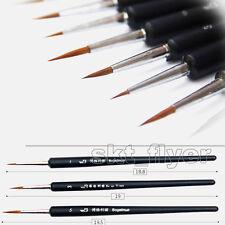 3pcs Set Weasel's Hair Paint Artists Brush , Hook Line Pen Drawing Diy School