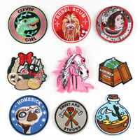 Animal Badge DIY Embroidered Sew On Iron On Patches Badge Fabric Craft Applique