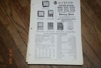 vintage 1952 rca victor television receivers manual 21t229 21t207 etc. etc.