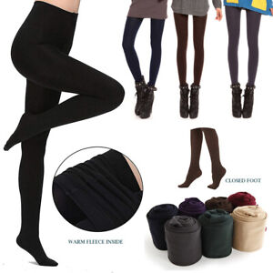 Women Leggings Fleece Lined Thermal Stretchy Warm Skinny Slim Pants Girls Ladies