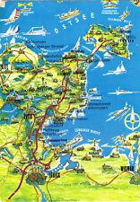 AK, Lübecker Bucht, Landkarte auf Ansichtskarte, um 1988
