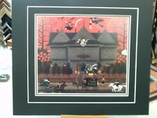 CHARLES WYSOCKI MATTED WITCH'S BREW HALLOWEEN GHOST RAVEN VERY RARE IMAGE