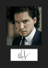 KIT HARRINGTON #1 A5 Signed Mounted Photo Print - FREE DELIVERY