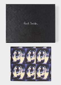 """NWT $250 Paul Smith """"Homer Afghan Hound Dog Leather Wallet/Billfold. Nice gift!"""