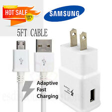 OEM Samsung Galaxy S6 S7 Note 4 5 Fast Charging Dual USB Wall Charger+Cable