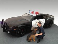 Police Guy & K9 Unit Dog Set Polizei Figur + Hund 1:18 American Diorama AD-23900