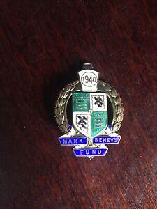 Silver Masonic Mark Benevant Fund 1940 Hallmarked Birmingham