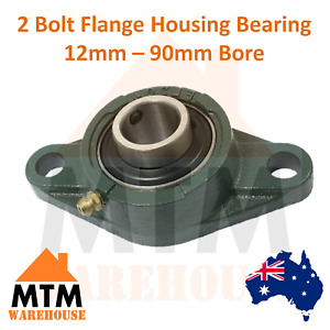 2 Bolt Flange Bearing Self Aligning Housing Pillow Block 12mm-90mm Bore