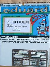 Eduard 1/48 FE828 Colour Steel Etch WW2 US Navy Fighter Aircraft Seatbelts