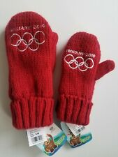 NWT Lot Vancouver 2010 Winter Olympics Red Mittens Sz Adult S/M Youth Unisex