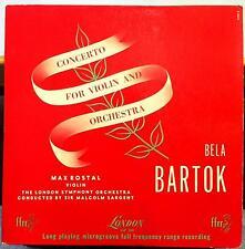 MAX ROSTAL bartok concert for violin LP VG LLP 302 Mono UK 1950 FFrr London