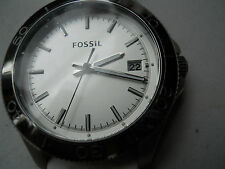 Fossil mens silicon rubber band,battery & water resistant Analog watch.Am-4471