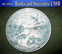 Old porcelain wall plate of the USSR 1950-1970,  diameter 265 millimeters
