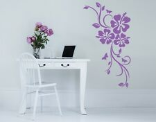 Hibiscus Flowers Corner - highest quality wall decal sticker