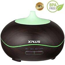 XPLUS Essential Oil Diffuser 300ml Aroma Wave Design Wood Grain Air Humidifier