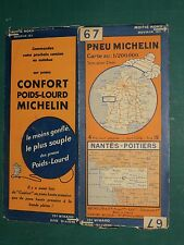 Carte MICHELIN n° 67 Nantes Poitiers 1931