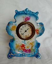 Antique Ansonia Mini Wind Up Dresser China Porcelain Clock Royal Bonn Germany