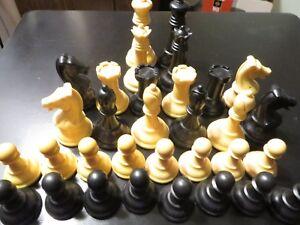 Vintage Allan Troy Chess-Drueke heavyweight set, #36 WITH OAK BOX!