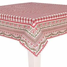Clayre & Eef Tischdecke 100 x 100 cm* Rot / Weiß kariert * Weihnachten *