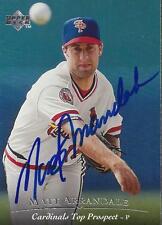 Matt Arrandale St Louis Cardinals 1995 Upper Deck Signed Card