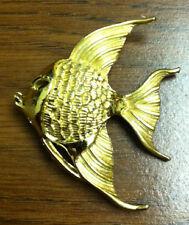 "Gold Tone Angel Fish Pin - 1.75"""