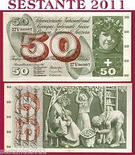 # SWITZERLAND / SVIZZERA - 50 FRANKEN 15.1. 1969 sign. 45  P 48I, SPL / XF  fori