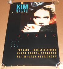 Kim Wilde Close Original Promo Poster 19x27 RARE